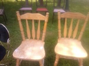 Antique chairs as well as other chairs