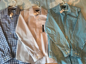NEW Mens Large Banana Republic shirts - all 3 for $100 total