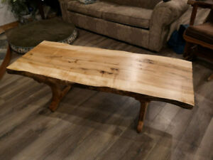 Coffee Table - Hand Crafted Live Edged Maple