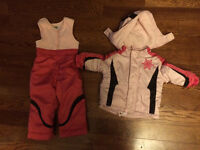 Baby girl 12 months snow suit