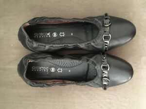 Black leather Geox shoes