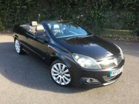 VAUXHALL ASTRA 2.0 TWIN TOP DESIGN CONVERTIBLE PETROL BLACK 2006