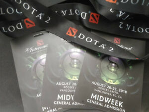 CHEAP! === DOTA 2 TI8 CHAMPIONSHIP MIDWEEK (GA) UP TO 5 TICKETS!