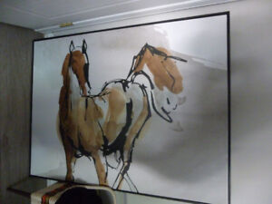 Tableau-toile reproduction cheval