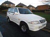 Ssangyong Musso 2.9 Diesel 4WD 7 Seat Estate. 40000 Miles. 12 Months MOT