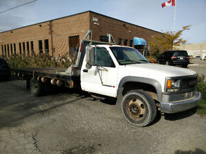 2000 GMC C/K 3500 HD Diesel with Flatbed Deck and Rack