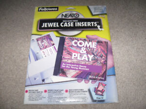 Fellowes  Jewel Case Inserts-High Gloss-new-unused pack + more