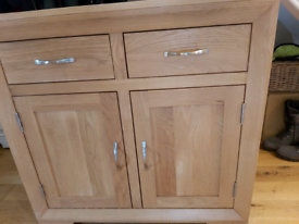 Light oak side board