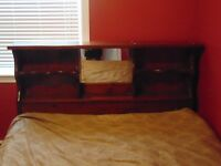 TWIN SIZE HEADBOARD AND BED FRAME FOR SALE $50 FIRM.
