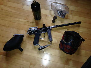 Paintball Gun Spyder AMG Dye Mask Loader Tank