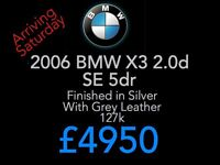 Arriving Saturday!!!! BMW X3 2.0 Diesel SE Manual - Fully Serviced with New MOT & Dual Mass Clutch
