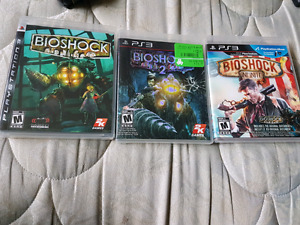Bioshock 1, 2, and 3 for sale. Asking 40 for all. Email or text.