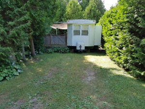 39' Park Trailer & Deck at Cobourg East Campground, Site 157