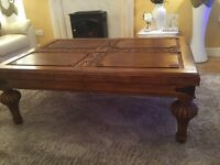 Ex large carved coffee table
