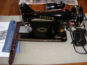 MID CENTURY 1957 SINGER MODEL 99K SEWING MACHINE