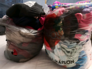Bags of women's clothing
