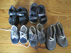 Toddlers' sandals and shoes, size 4 to 8, boys + free gift