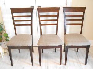 3 x  Solid Wood, Dining Room Chairs