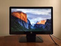 HP 20-inch LED LCD monitor