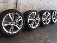 4x Seat Ibiza Sport Alloy wheels NEW tyres 5x100 ( golf Bora Leon..)