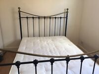 Double bed frame and mattress excellent condition