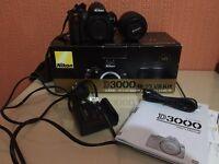 Nikon D3000 SLR Body + 18-55mm Lens