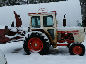 David Brown 995 Tractor with Cab and blower