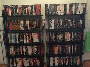 VHS/Movie Shelf/DVD-VHS Player