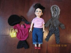 """18"""" doll with outfits"""
