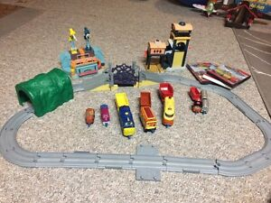 Chuggington toys and 3 movies