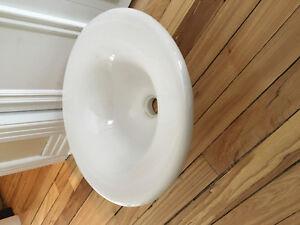 Lavabo vasque porcelaine blanche