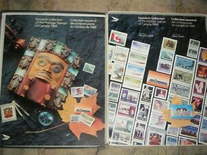 CANADA SOUVENIR COLLECTION STAMPS YEAR 1989