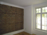Large Renovated 6 1/2 Victorian Greystone on the Park (St-Henri/