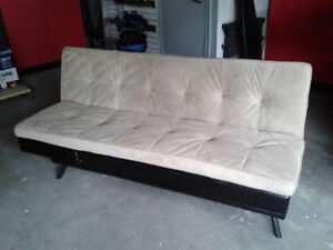Barely Used Faux Leather/Faux Suede Futon Excellent condition