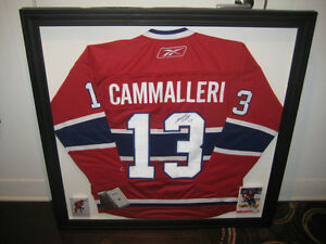 Mike Cammalleri Chandail/Jersey Signé/Autograph Canadiens Habs