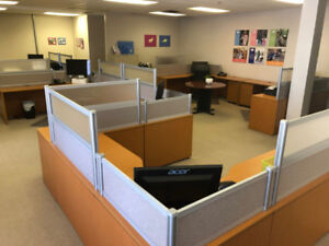 12 Office Workstations/Desks Collection For Sale by Owner
