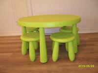 table et tabouret Ikea