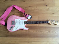 Fender Squire Hello Kitty 3/4 Guitar