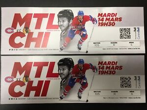 Montreal Canadiens March 14th, 19th, 21st, 23rd, 30th