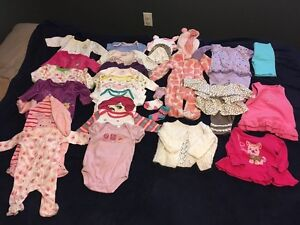 0-3 month baby girl clothes in excellent used condition
