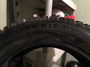 215/60R17 Winter Tires (studded)