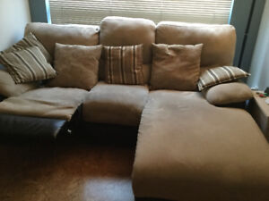 ***Reclining Sofa with Chaise