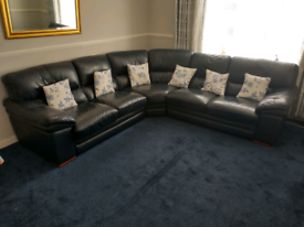 Corner sofa with stool unmarked £100 great condition