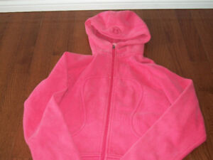 lululemon athletica hoodie zip up used size s 6 pink