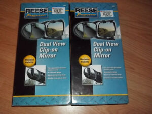 Reese Towpower Dual View Clip-On Towing Mirror