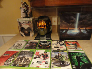 Jeu XBOX 360 , Figurine Assassin's Creed , Casque Halo