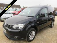 2013 13 VOLKSWAGEN CADDY 1.6 C20 TDI HIGHLINE 102 BHP BLACK 57386 MILES NO VAT D