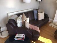 Leather 3 seat sofa