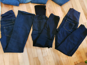 10 pairs small maternity jeans and pants