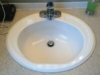 Sink and faucet (removed)